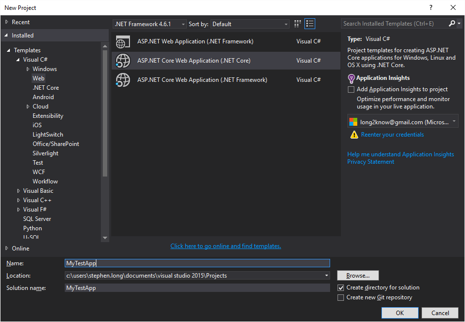 Creating an Angular2 app with VS2015 – Longing to know